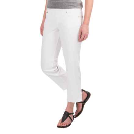 JAG Echo Crop Jeans - Stretch Cotton, Pull-On (For Women) in White - Closeouts