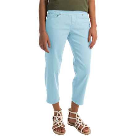 JAG Echo Twill Capris - Pull On (For Women) in Azure - Closeouts