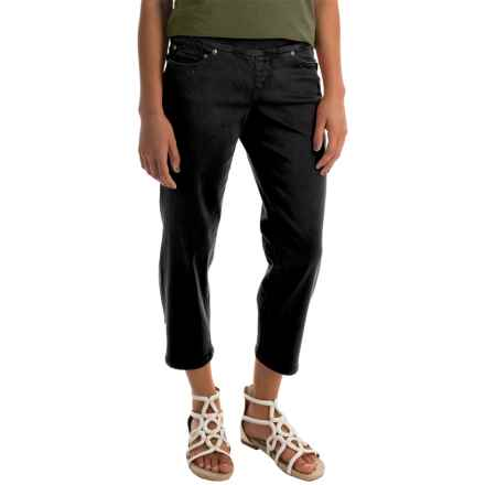 JAG Echo Twill Capris - Pull On (For Women) in Black - Closeouts