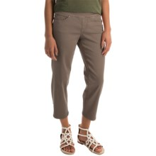 JAG Echo Twill Capris - Pull On (For Women) in Fossil - Overstock