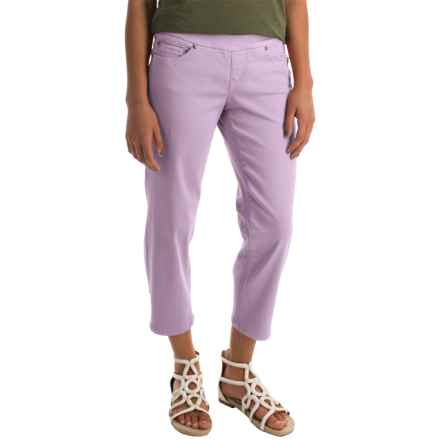 JAG Echo Twill Capris - Pull On (For Women) in Primrose - Closeouts