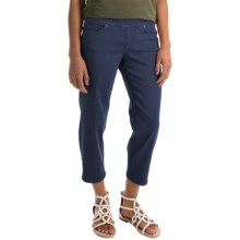 JAG Echo Twill Capris - Pull On (For Women) in Sailor - Overstock