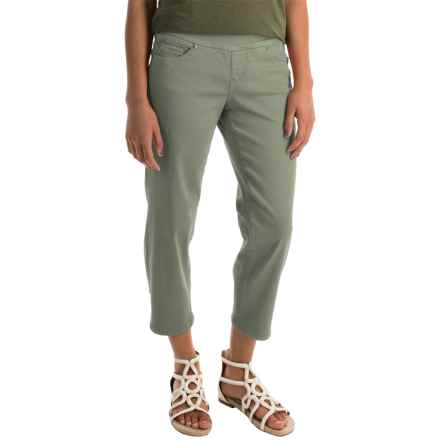 JAG Echo Twill Capris - Pull On (For Women) in Silver Sage - Closeouts