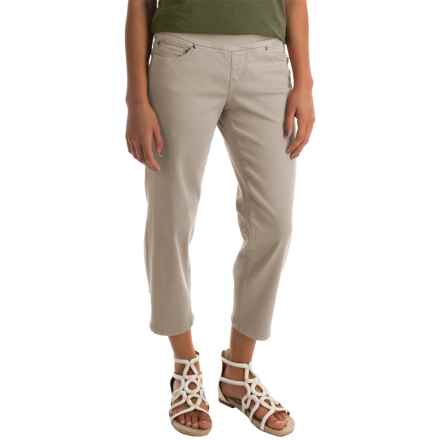 JAG Echo Twill Capris - Pull On (For Women) in Stone - Closeouts