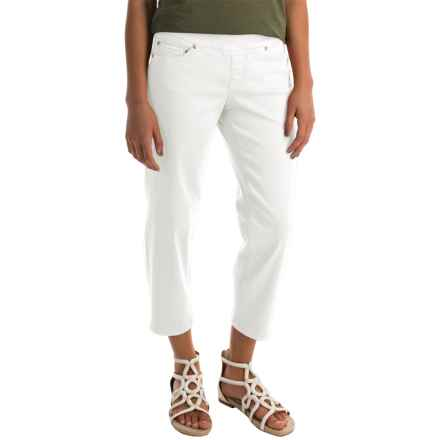 JAG Echo Twill Capris - Pull On (For Women) in White - Closeouts