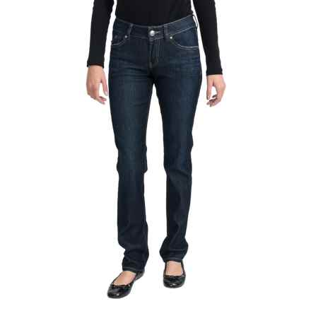JAG Eden Straight Jeans - Low Rise, Straight Leg (For Women) in Clean Dark - Closeouts