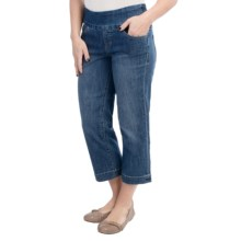 Jag Felicia Stretch Denim Crop Jeans - Pull On (For Women) in Blue Dive - Closeouts