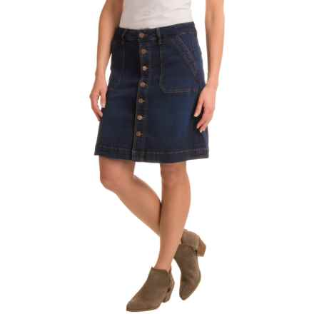 JAG Florence Skirt - Stretch Cotton (For Women) in Indigo Steel - Closeouts