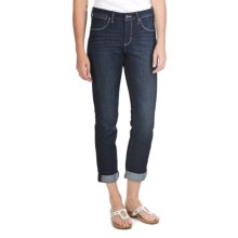 JAG Frances Roll Jeans - Refined Slub Denim, Slim Fit, Mid Rise (For Women) in Ol Blue - Closeouts