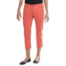 JAG Gilla Slim Crop Pants - Sanded Twill, Mid Rise (For Women) in Fiesta - Closeouts