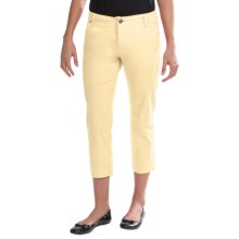 JAG Gilla Slim Crop Pants - Sanded Twill, Mid Rise (For Women) in Lemon Meringue - Closeouts