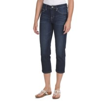 Jag Hannah Crop Pants - Refined Slub Denim, Mid Rise, Classic Fit (For Women) in Indigo Nights - Closeouts