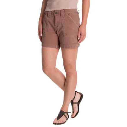 JAG Izzy Contrast Stitch Twill Shorts (For Women) in Birds Nest - Closeouts