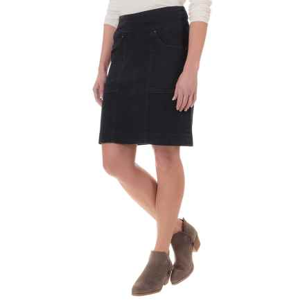 JAG Janelle Comfort Denim Skirt - Pull-On (For Women) in Black - Closeouts