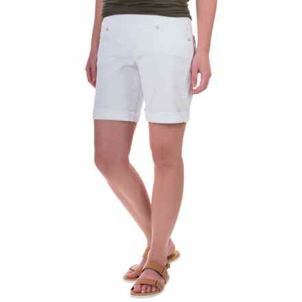 JAG Jordan Pull-On Denim Shorts (For Women) in White - Closeouts