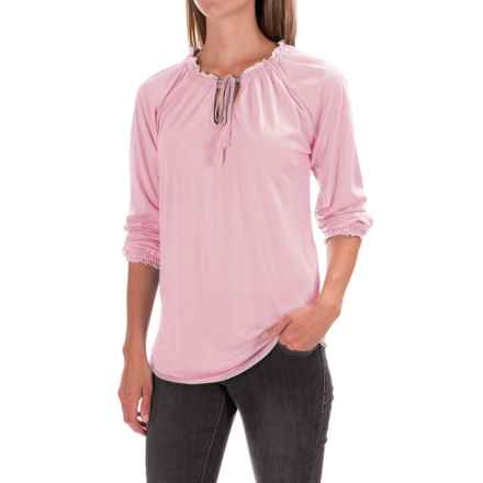 JAG Knit Peasant Top - Long Sleeve (For Women) in Light Pink - Closeouts