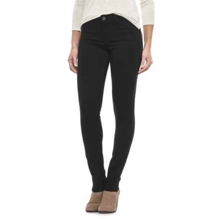 JAG Lara Double-Knit Jeggings - Mid Rise, Skinny Leg (For Women) in Black - Closeouts