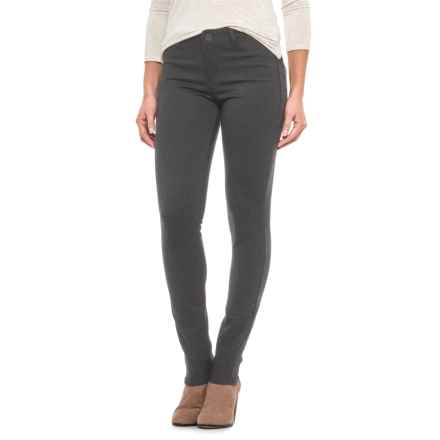 JAG Lara Double-Knit Jeggings - Mid Rise, Skinny Leg (For Women) in Charcoal Heather - Closeouts