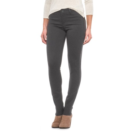 JAG Lara Double-Knit Jeggings - Mid Rise, Skinny Leg (For Women) in Charcoal Heather