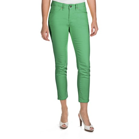 JAG Low Jane Ankle Jeans - Colored Denim, Low Rise, Slim Fit (For Women) in Astro