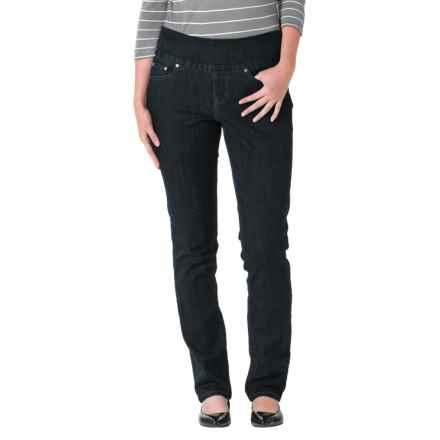 JAG Malia Slim Leg Jeans - Pull On (For Women) in Black Void - Closeouts