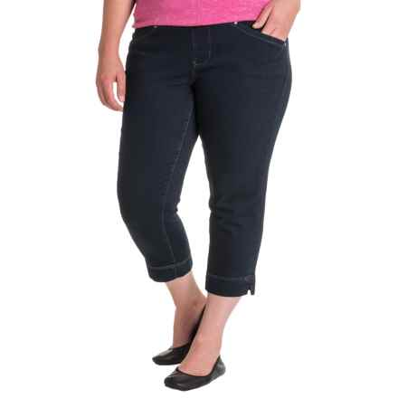 JAG Marion Denim Crop Jeans (For Plus Size Women) in After Midnight - Closeouts