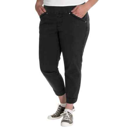 JAG Marion Twill Crop Pants (For Plus Size Women) in Black - Closeouts