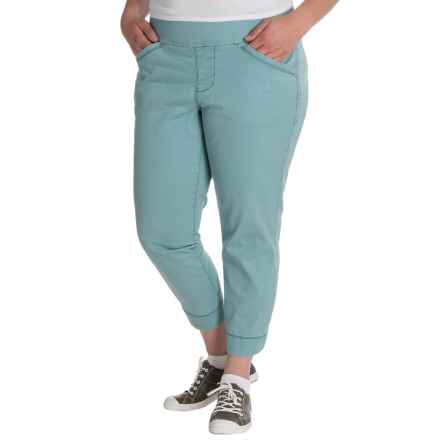 JAG Marion Twill Crop Pants (For Plus Size Women) in Nile - Closeouts