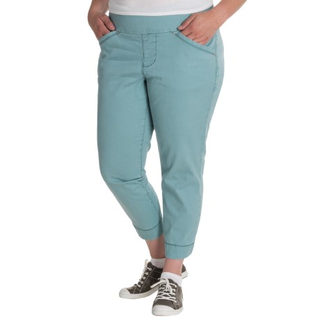 JAG Marion Twill Crop Pants (For Plus Size Women)