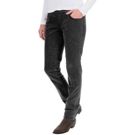 JAG Nora Corduroy Pants - High Rise, Skinny Fit (For Women) in Black - Overstock