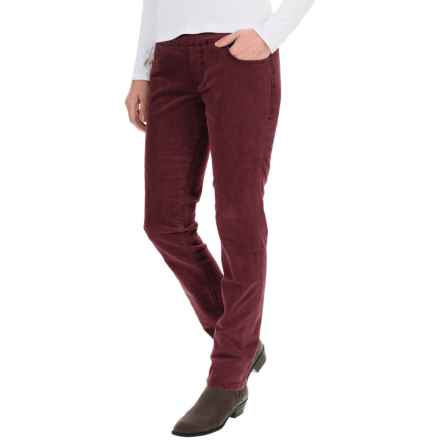 JAG Nora Corduroy Pants - High Rise, Skinny Fit (For Women) in Elderberry - Overstock