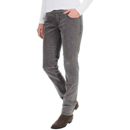 JAG Nora Corduroy Pants - High Rise, Skinny Fit (For Women) in Smokey Grey - Overstock