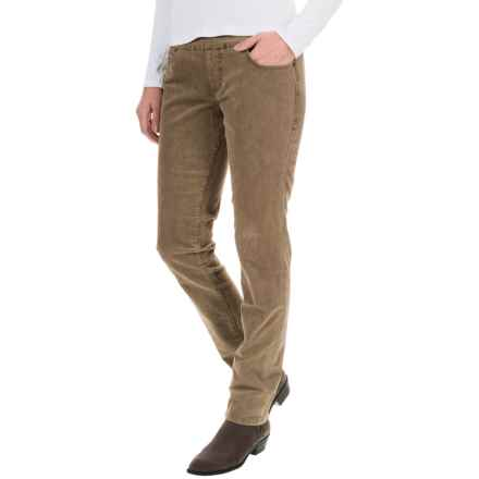JAG Nora Corduroy Pants - High Rise, Skinny Fit (For Women) in Toffee - Overstock