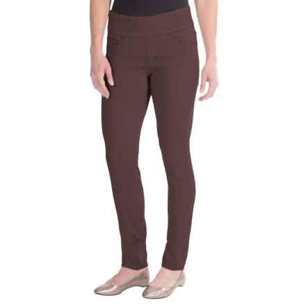 JAG Nora Pull-On Skinny Knit Pants - Comfort Rise (For Women) in Brown - Closeouts