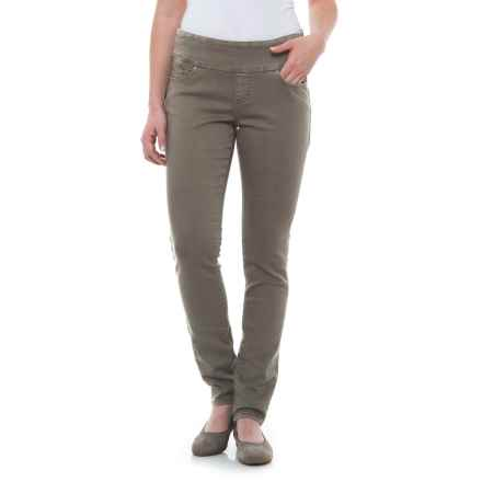 JAG Nora Pull-On Skinny Knit Pants - Comfort Rise (For Women) in Lava Rock - Closeouts