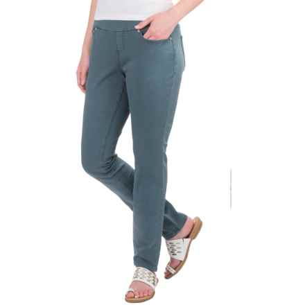 JAG Nora Pull-On Skinny Knit Pants - Comfort Rise (For Women) in Opal - Closeouts