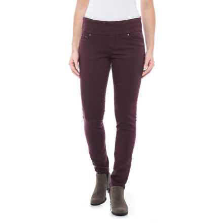 JAG Nora Pull-On Skinny Knit Pants - Comfort Rise (For Women) in Plum Noir - Closeouts