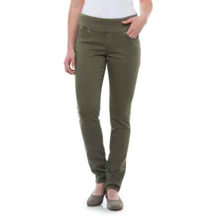 JAG Nora Pull-On Skinny Knit Pants - Comfort Rise (For Women) in Silver Pine - Closeouts