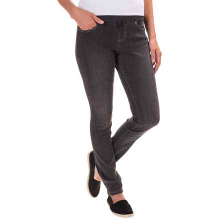 JAG Nora Pull-On Skinny Knit Pants - Comfort Rise (For Women) in Thunder Grey - Closeouts