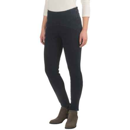 JAG Olive Side-Zip Skinny Jeggings (For Women) in Dark Indigo - Closeouts