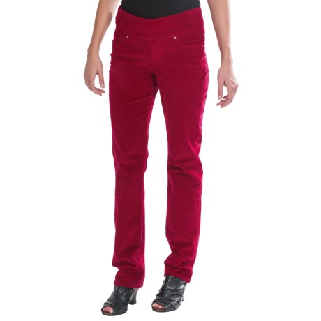 JAG Peri Corduroy Pants - 5-Pocket, Pull-On, Straight Leg (For Women) in Double Cherry