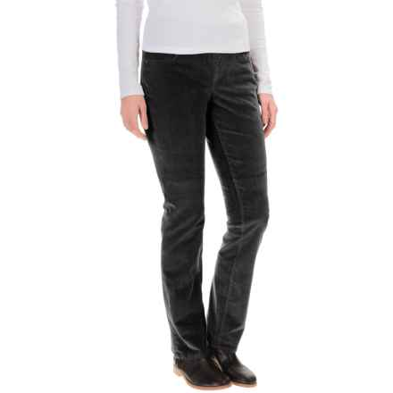 JAG Peri Corduroy Pants - High Rise, Straight Leg (For Women) in Black - Overstock