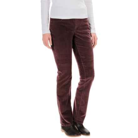 JAG Peri Corduroy Pants - High Rise, Straight Leg (For Women) in Elderberry - Overstock