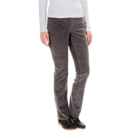 JAG Peri Corduroy Pants - High Rise, Straight Leg (For Women) in Smokey Grey - Overstock