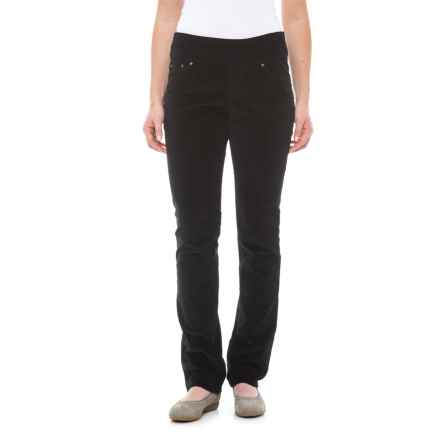 JAG Peri Straight Corduroy Pants (For Women) in Black - Closeouts