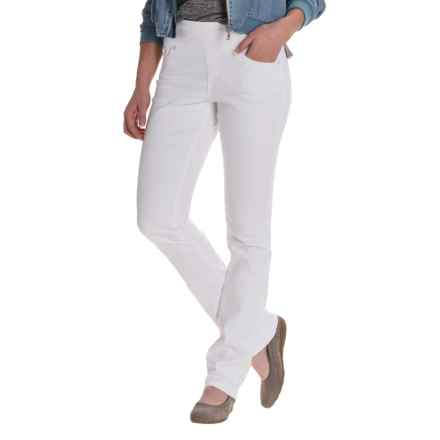 JAG Peri Straight Jeans - Straight Leg (For Women) in White - Closeouts
