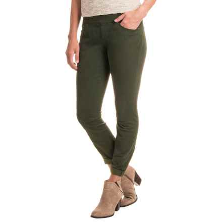 JAG Peri Straight Twill Pants (For Women) in Green Spruce - Closeouts