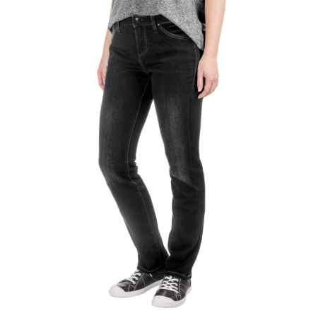 JAG Portia Platinum Jeans - Mid Rise, Straight Leg (For Women) in Black - Closeouts