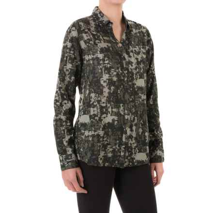 JAG Roan Extra-Long Shirt - Hidden-Button Front, Long Sleeve (For Women) in Jungle - Closeouts