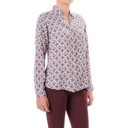 JAG Roan Shirt - Hidden-Button Front, Long Sleeve (For Women) in Cream - Closeouts